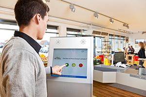 Kundenbefragung mit e-QSS touch
