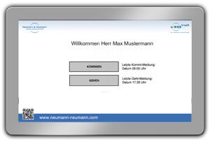 e-QSS Zeiterfassung Zeitstempel